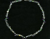 Quartz Amethyst Necklace with Extender Chain