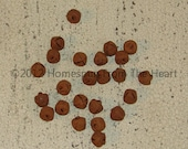 rag doll supplies, rusty bells,  9mm small,  country primitive, Rusty jingle bells, rustic craft supply