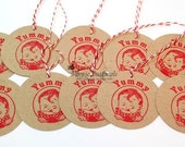 Vintage Yummy Gift Tag Set of 10 -  Food Tag - Canning Label - Baking Label - Food Gifts - Hang Tag