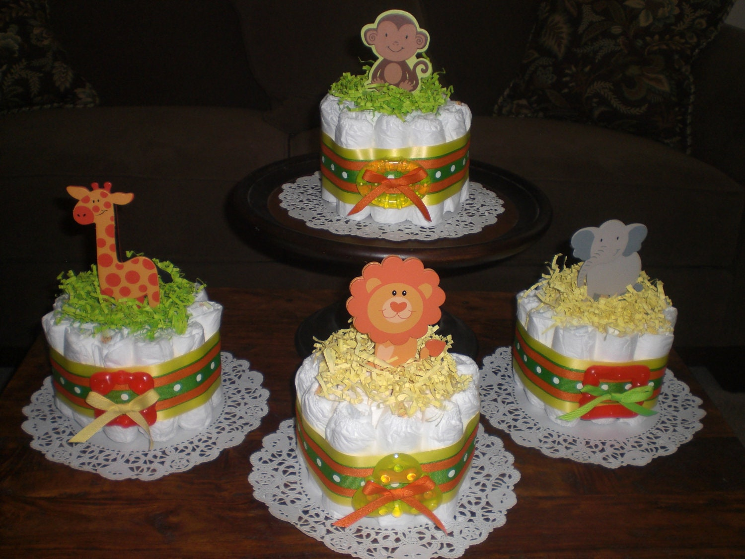Safari Diaper Cake Diaper Cake Baby Shower