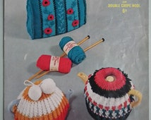 Vintage Knitting Pattern Tea Cosy Cosies Cozies 1940s 1950s original pattern Sirdar No. 1743 UK 40s 50s traditional designs