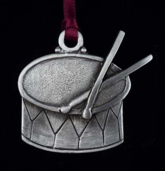 Drummer Boy Drum Christmas Ornament in Fine Pewter by ...