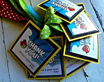 Gamer Favor Tags...Set of 12 Favor Tags with Custom Wording.