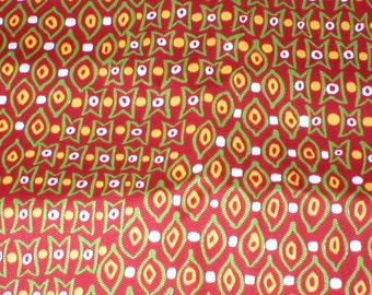 4 Yards 36 Wide Vintage 60s Abstract Print Cotton Bark Cloth Fabric