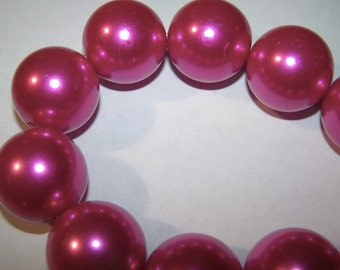 Wholesale 1/4 Pound Fuschia Pearl Beads18MM   AM1