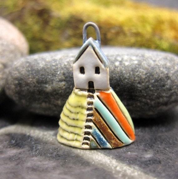 Hilltop Cottage...Candy Inn...Porcelain Pendant