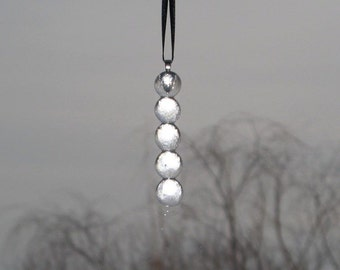 Clear Icicle Fused Glass Ornament  -  FREE Shipping in the USA