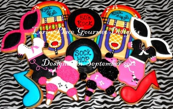 Reserved for Taneal----Sock Hop Cookies - 12 Cookies