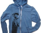 Unisex River OTTER Tri-Blend Vintage Stye Hoody (3 Color Options) - American Apparel XS S M L XL