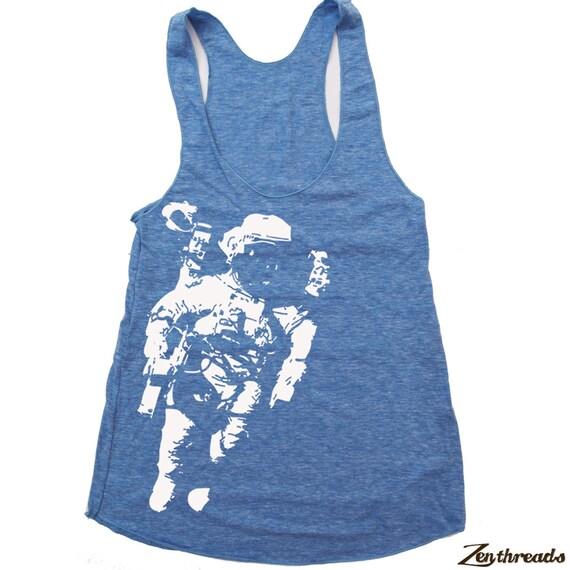 Women's SPACE american apparel Tri-Blend Racerback Tank Top S M L (9 Color Options)