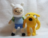 PDF Amigurumi Patterns: Jake and Finn in Adventure Time