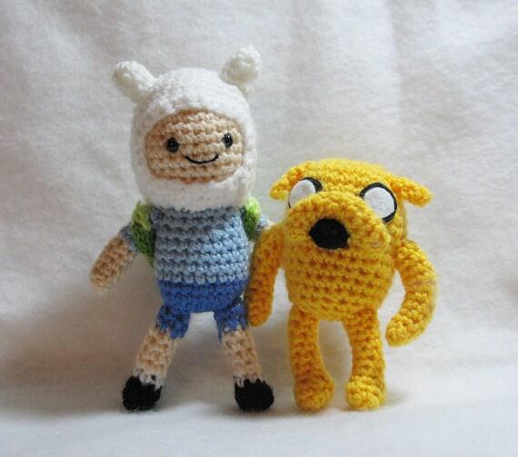 Amigurumi Love Birds Pattern : PDF Amigurumi Patterns: Jake and Finn in Adventure Time