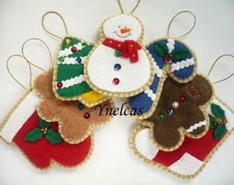 adornos de navidad de fieltro decoracion de navidad de fieltro un adorno