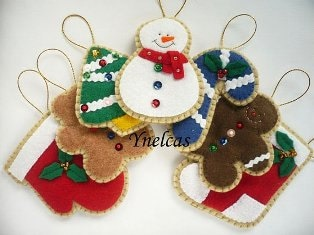 Felt Christmas Ornament Handmade Felt Christmas Decoration