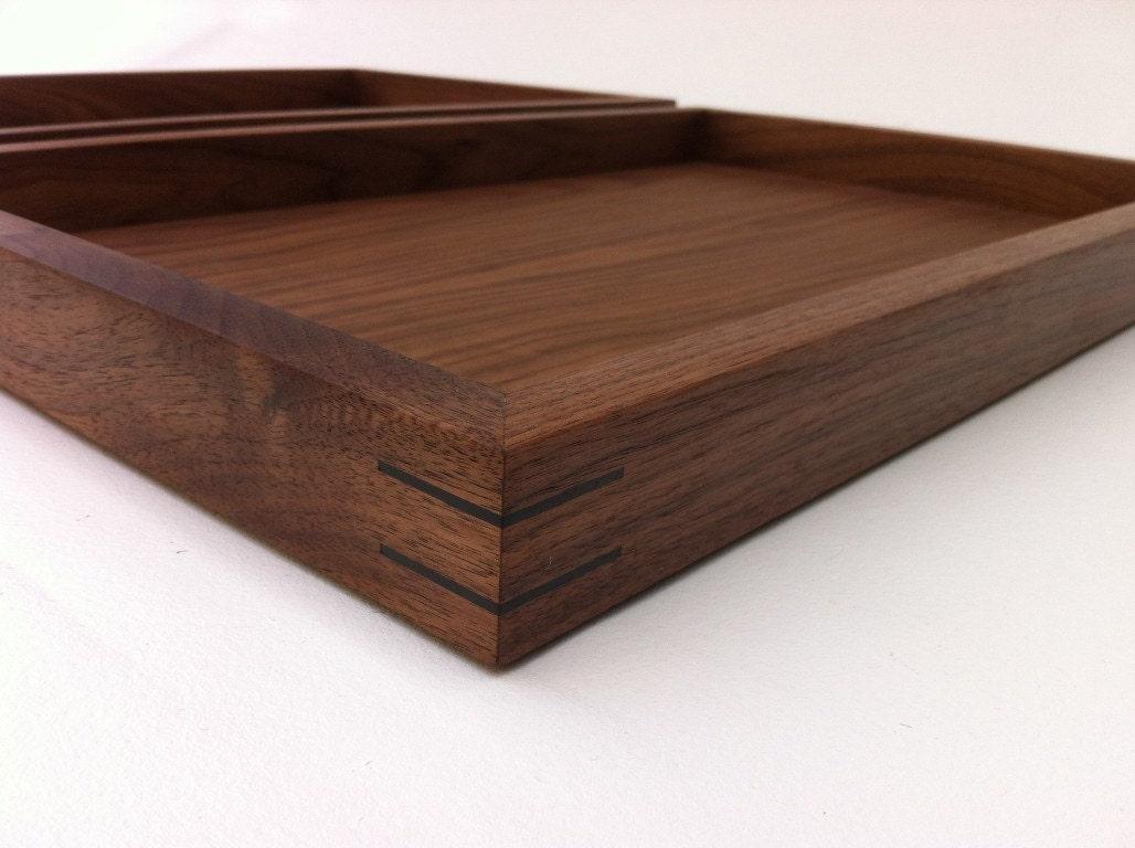 Modern Walnut Display Box Ottoman Trays Sized To Fit