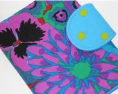 Kindle Paperwhite Case Nook Touch Case all sizes Cobalt Bloom custom eReader Cover