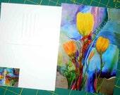 Transcend Postcards - Tulip Design - Art by Gene Black
