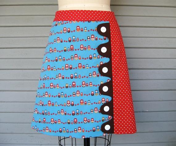 Russian Doll a-line skirt Sz 10