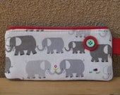 Jungle Elephant Friends Pencil Case