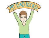 Father's Day - My Dad Rocks BOY VERSION