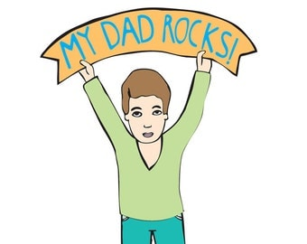 Father's Day - My Dad Rocks BOY VERSION