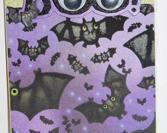 Handmade Halloween Greeting Card - Blank Inside
