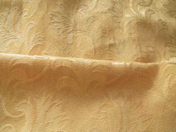 Vintage c.1940's Silken Cotton Brocade War Time Curtain Fabric