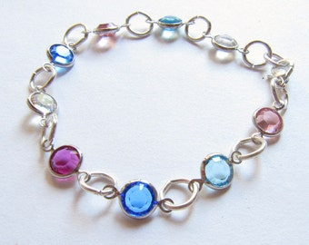 Bracelet Delicate Multicolors Swarovski Spacers