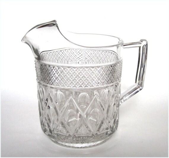1930's Cape Cod Crystal Art Deco Glass Large Ice Lip