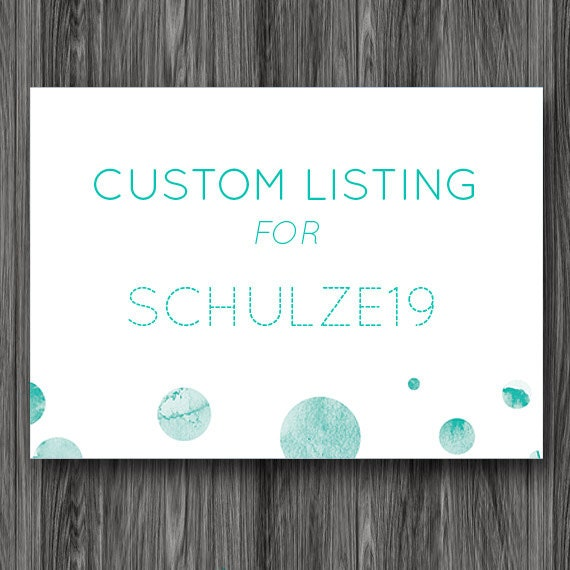 Reserved Listing for schulze19 - Custom Place Cards