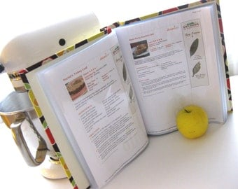 Recipe Book for up to 200 8x5x11 size printables-Choose your own fabric and ribbon
