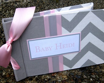 Baby Photo Album 5x7 brag book-Chevron Design