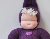 Baby Hilda - Purple Sweetheart Baby - Waldorf Doll