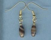 Brown Agate Gemstone Earrings