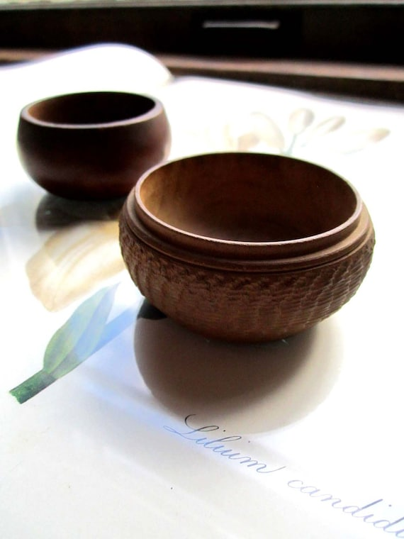 Two Small Wood Bowls
