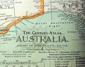 1899 Century Atlas Antique Map of Australia
