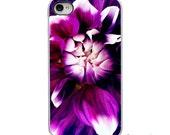 On Sale! Purple Pink Dahlia Flower with White or Black iPhone Case - IPhone 4, 4s, 5, 5s,5C Hard Cover - Fun Unique Trendy  - artstudio54