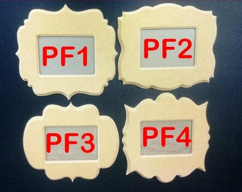 """4 8"""" x 10"""" Picture Frames, w/Key Holes , 3D beveled edges, Acrylic & backing included.  8-15F A"""