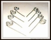5 Escort card holders-Menu card holders-Photo holders-Wedding wire stick pins-Silver tone or darker wire