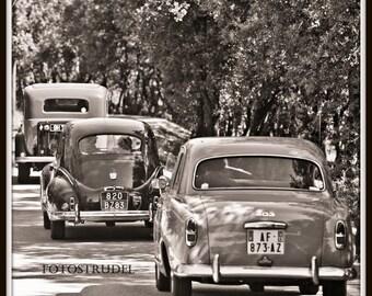 Vintage Car Photograph Series. Classic Antique Cars 3 / Retro Wreck Room / Man Cave/ Colour or B/W 8x8
