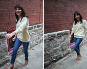 Key Lime Cashmere Sweater : Vintage Wool Pullover S, M, L, XL