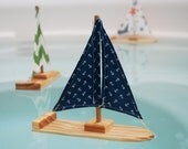 Navy Anchor Sailboat