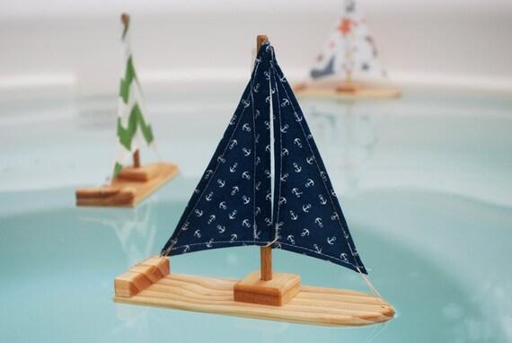 Navy Anchor Sailboat