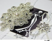 Rhinestone Wedding Garter Set, Bridal garter, Keepsake Garter, Rhinestone Garterr, Toss Garter, Bridal accessories, crystal applique