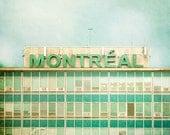 Montreal Airport sign - Fine Art vintage Photograph - Montreal landmark series