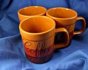 Black Coffee Mug Trio