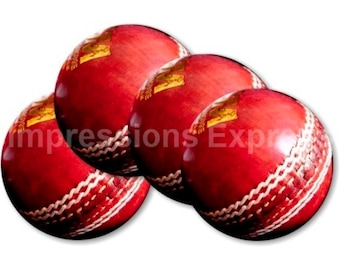 Cricket Ball Sport Coasters - Set of 4