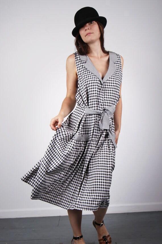 Gingham vichy dress for petite SM/ME