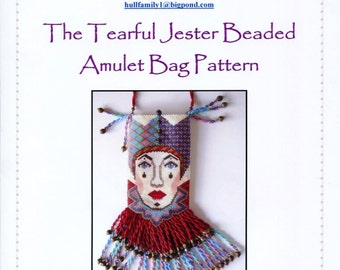 The Tearful Jester Beaded Amulet Bag Pattern and Chart
