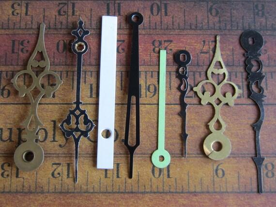 Vintage Antique Watch parts Clock Hands- Steampunk - Scrapbooking r76
